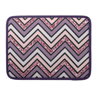Chevron Lavender Pink & White Sleeve For MacBook Pro