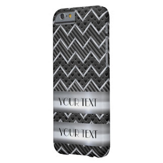 CHEVRON METAL CARBON TEMPLATE CUSTOMIZE POPULAR BARELY THERE iPhone 6 CASE