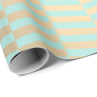 Chevron Metallic Tiffany Mint Ocean  Foxier Gold Wrapping Paper