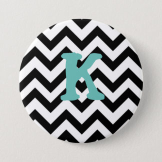 Chevron Monogram Badge 3 Inch Round Button