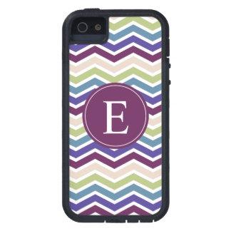 Chevron Monogram Purple Green Cream iPhone 5 Cases