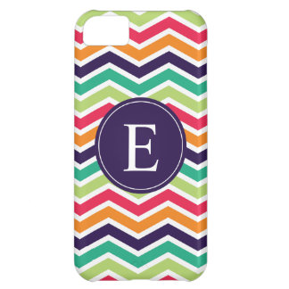 Chevron Monogram Purple Green Pink Orange Cover For iPhone 5C