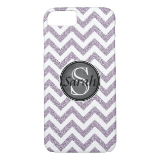Chevron Nameplate - Pastel Purple Glitter iPhone 7 Case