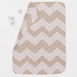 Chevron Paisley Pattern Geometric ZigZag Design Baby Blanket