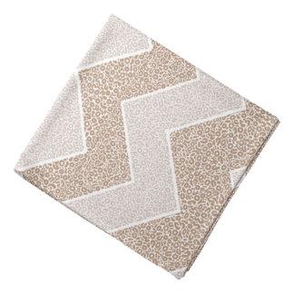 Chevron Paisley Pattern Geometric ZigZag Design Bandana