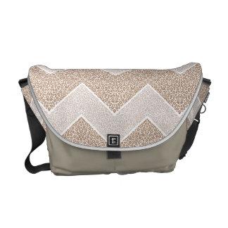 Chevron Paisley Pattern Geometric ZigZag Design Courier Bags