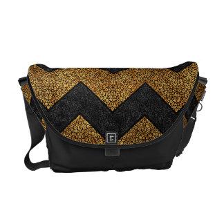 Chevron Paisley Pattern Geometric ZigZag Design Messenger Bag