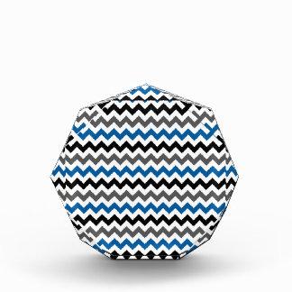 Chevron Pattern Background Blue Gray Black White