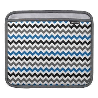 Chevron Pattern Background Blue Gray Black White Sleeves For iPads