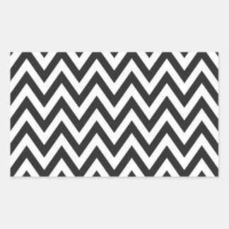 Chevron Pattern Black White Geometric Art Designs Sticker