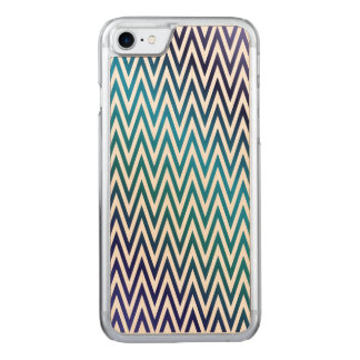 Chevron pattern carved iPhone 7 case