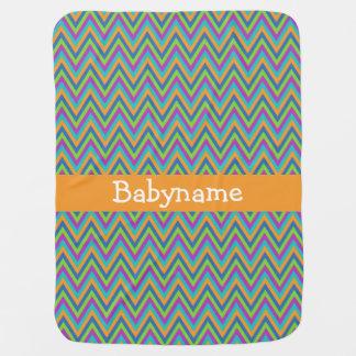 Chevron Pattern custom baby blanket