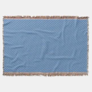 Chevron pattern dark blue light blue throw