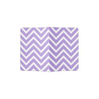 Chevron Pattern Lavender and White Passport Holder