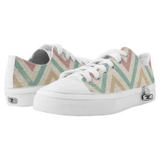 Chevron pattern Low-Top sneakers