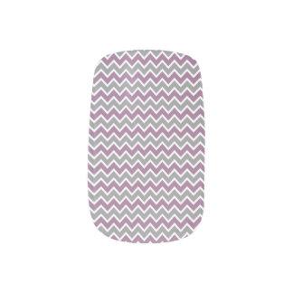 Chevron Pattern Minx grey/purple) Minx Nail Art
