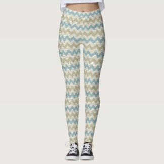 Chevron pattern on linen texture leggings
