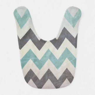 Chevron Pattern On Metal Texture by Shirley Taylor Baby Bibs
