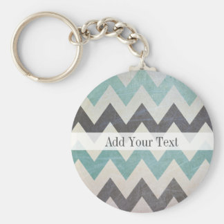 Chevron Pattern On Metal Texture by Shirley Taylor Basic Round Button Keychain
