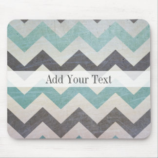 Chevron Pattern On Metal Texture by Shirley Taylor Mouse Pad