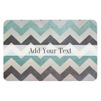 Chevron Pattern On Metal Texture by Shirley Taylor Rectangular Photo Magnet