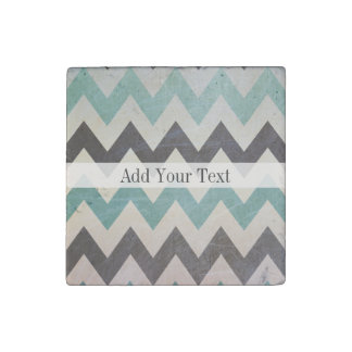 Chevron Pattern On Metal Texture by Shirley Taylor Stone Magnets