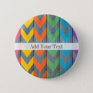 Chevron Pattern On Wood Texture by Shirley Taylor 2 Inch Round Button