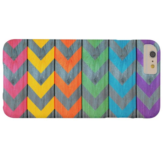 Chevron Pattern On Wood Texture by Shirley Taylor Barely There iPhone 6 Plus Case