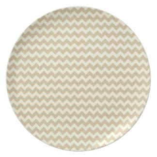 Chevron Pattern Party Plate
