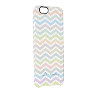 Chevron Pattern Subtle Colorful Clear iPhone case