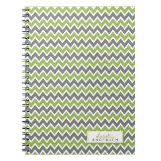 Chevron Pattern Trendy Notebook (apple)