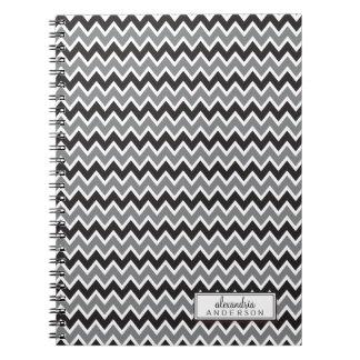 Chevron Pattern Trendy Notebook (black)