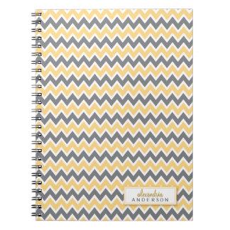Chevron Pattern Trendy Notebook (lemon)