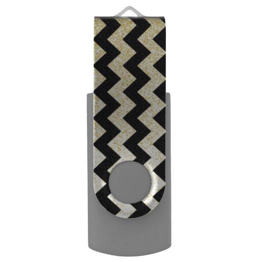 Chevron Pattern USB Flash Drive Swivel USB 3.0 Flash Drive
