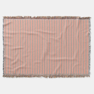 Chevron pattern warm red brown on pastel pink throw blanket