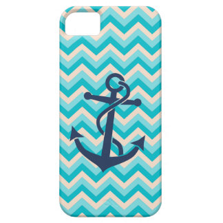 Chevron Pattern with Anchor iPhone 5 Case