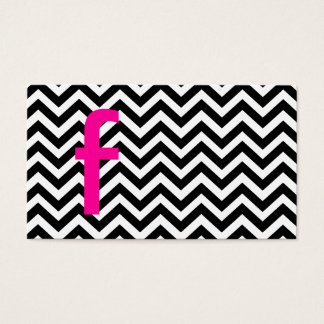 Chevron Pattern with Monogram Business Card