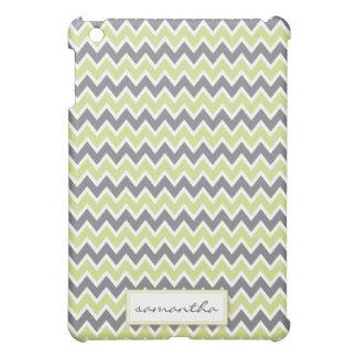 Chevron Pern (lime green) iPad Mini Covers