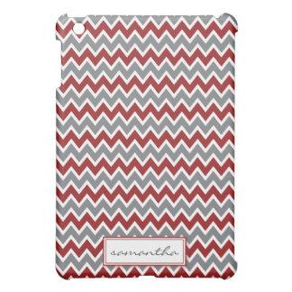 Chevron Pern (maroon) iPad Mini Case