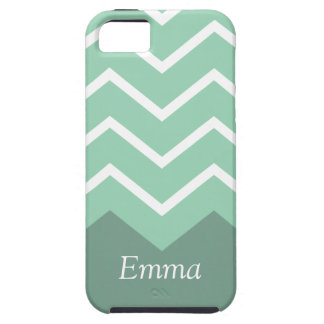Chevron Personalized iphone Case (Green)