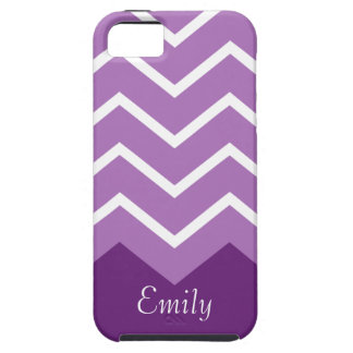 Chevron Personalized iphone Case (purple)