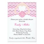 Chevron Pink Bridal Shower Wedding Invitation
