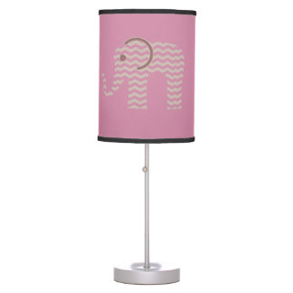 Chevron Pink Elephant Lamp