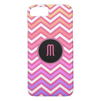 Chevron Pink Purple Monogram iPhone 8/7 Case