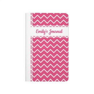 Chevron Pink White Bound Journal