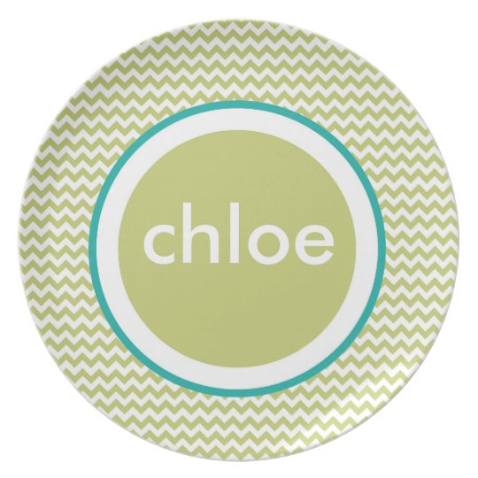 Chevron Plate - Name