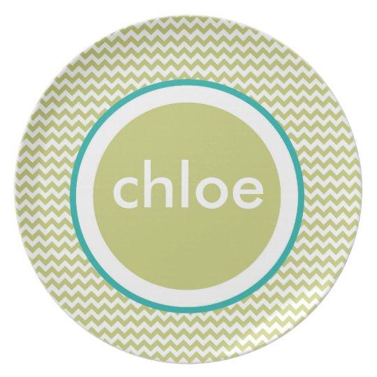 Chevron Plate - Name