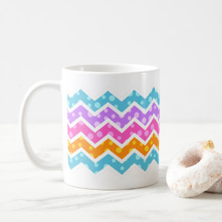 Chevron Polka Dots Pattern Coffee Mug