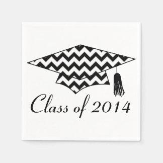 Chevron Print Custom Graduation Napkins Disposable Napkins