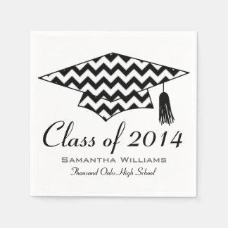 Chevron Print Custom Name Graduation Napkins Paper Napkin
